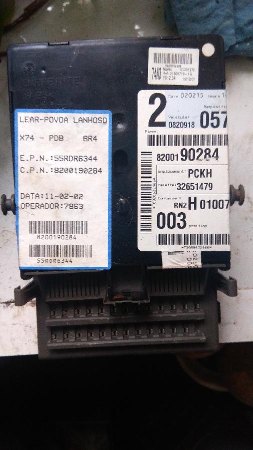 Блок управления комфортом Laguna 2 1.4 16V 8200190284 55RDR6344 H01007