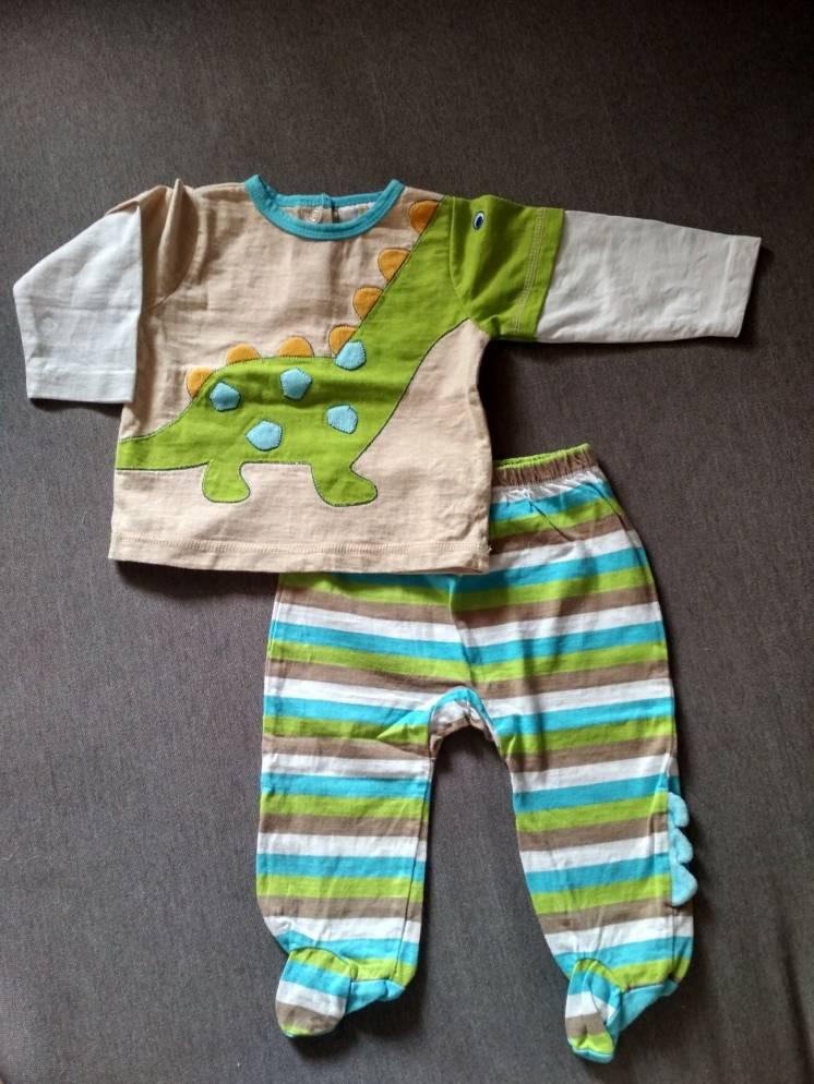 Новый детский костюмчик /комплект малышу Absorba США, Диназовр, 3-6М