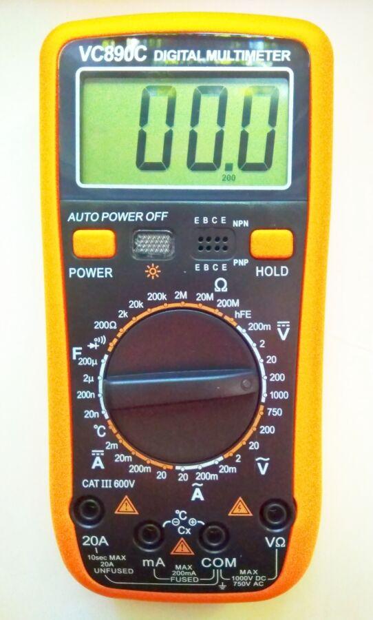 Мультиметр тестер VC 890C Термопара