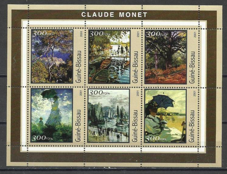 Продам марки Гвинеи-Бисау 2001 Живопись. Монэ   (Блок)