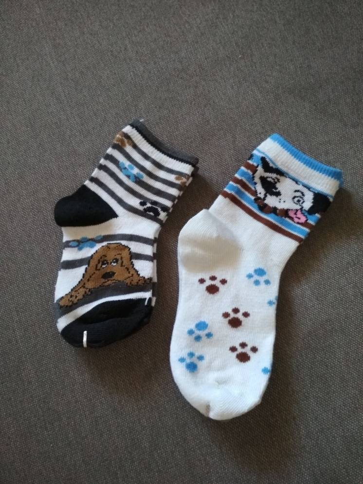 Носки детские тонкие на 2-3 года, 4-5 лет, набор (2 пары)