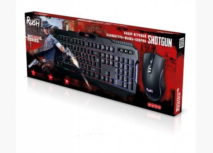 Комплект игровой клав + мышь + коврик Smartbuy Rush Shotgun SBC-307728