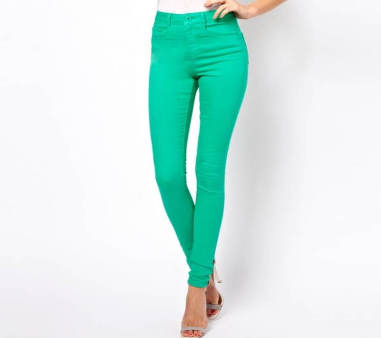 Легкие летние джинсы штаны слим стрейтчевые petite ange xs-s франция