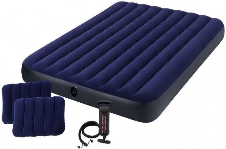 Надувной матрас с подушками и насосом Intex 64765