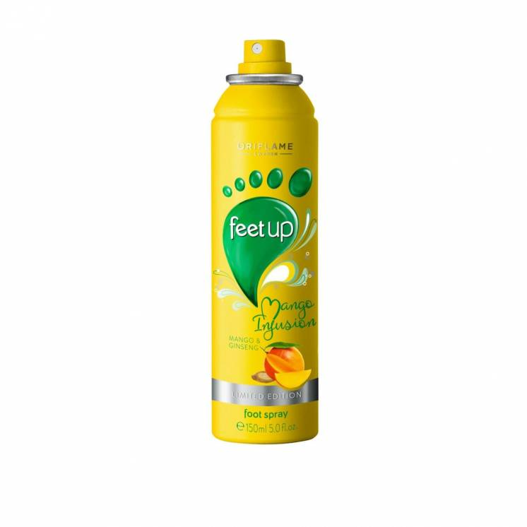 Освежающий спрей-дезодорант для ног Манго и женьшень