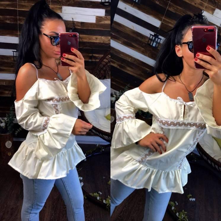 Нарядная блуза, сексуальная рубашка-туника