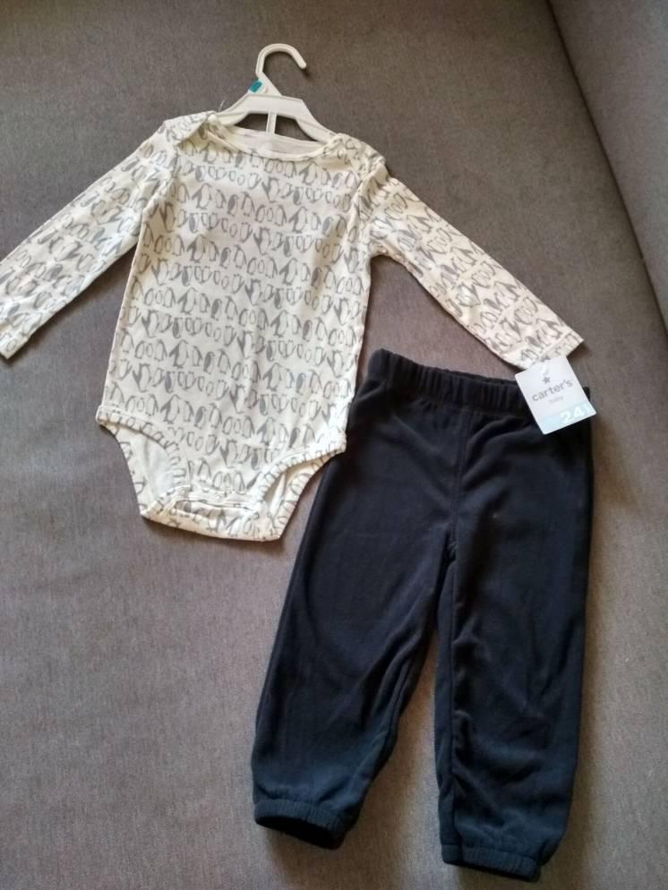 Комплект детский Carter's США, бодик и штаны, мальчику на 1,5-2 года