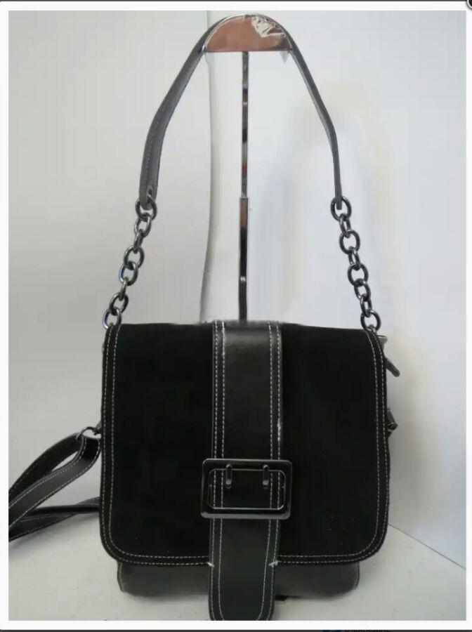 Женская сумка из натуральной кожи и замши. Новая.