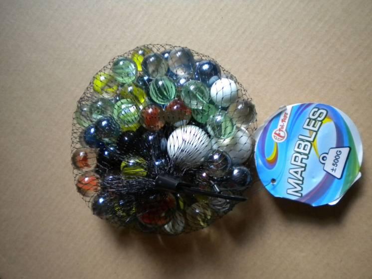 Скляні кульки кулі Toi-toys 0,5 кг стеклянные шарики шары