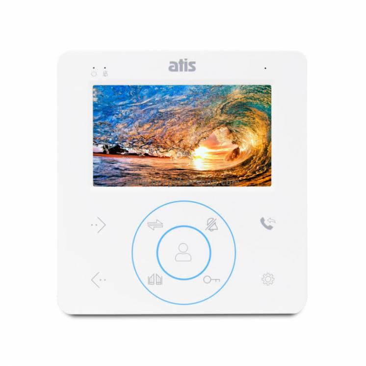 """Відеодомофон 4"""" ATIS AD-480W/ на 2 панелі виклику/сенсорні кнопки"""
