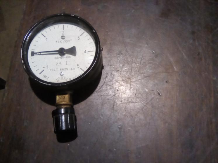 мановакуметр -1-0-5 кг/см