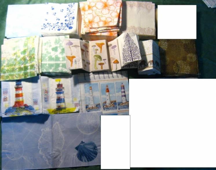 салфетка для декупажа морская тематика, маяки, карты, цветы, листья