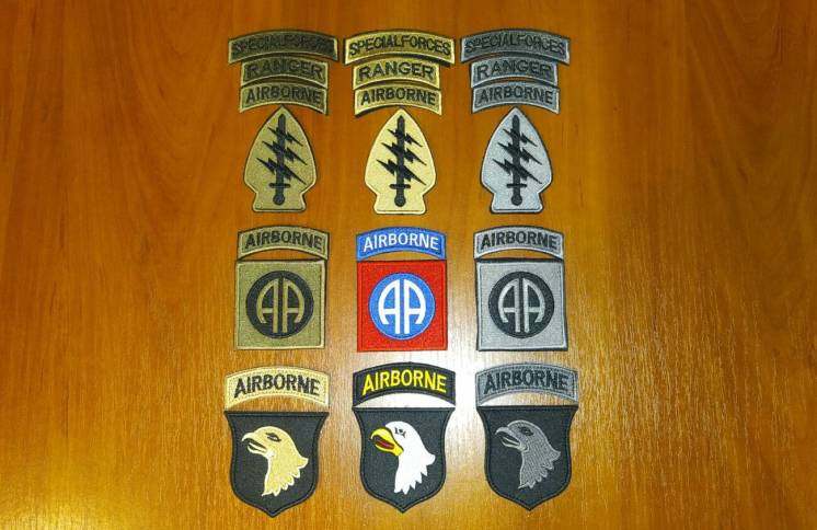 Нашивка (шеврон) US Army (США - USA) Airborne, Special Force, Rangers