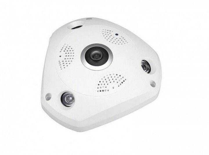 """Панорамная VR IP WiFi камера """"рыбий глаз"""" UKC1 1317 белая"""