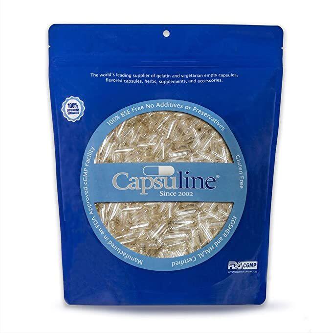 Пустые капсулы желатиновые прозрачные Capsuline США (поштучно)