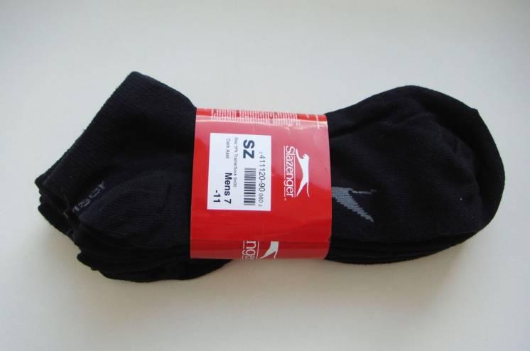 Носки мужские короткие Slazenger. Раз.41-45. Англия. Черные