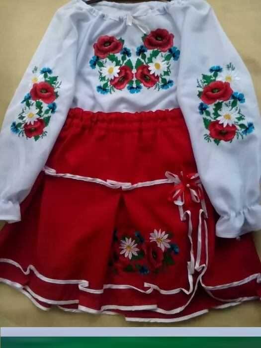 Вышиванка Вишиванка костюм для девочки 6 - 7 лет размер 32