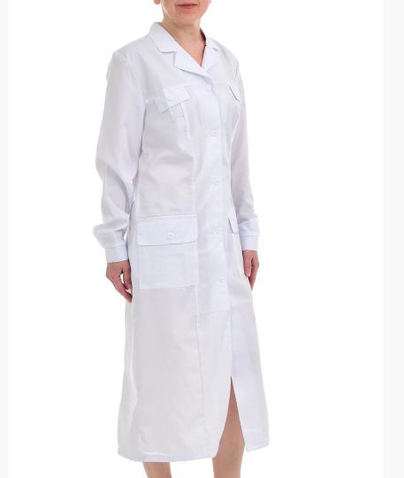 Халат женский белый медицинский