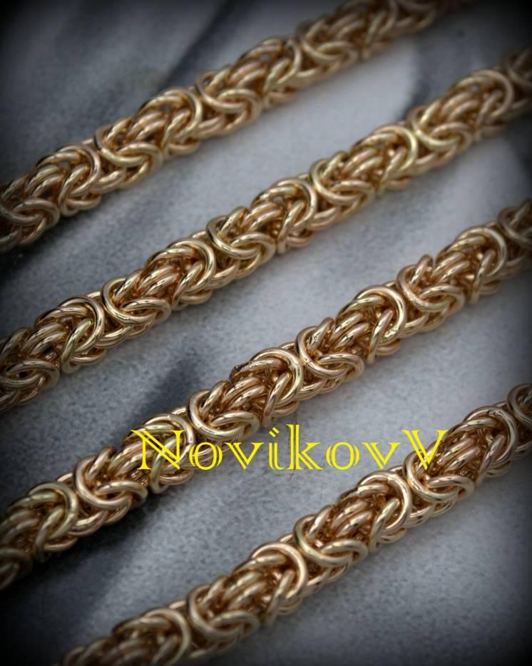 Цепь цепочка золото серебро Лисий Хвост на заказ , под заказ Днепр