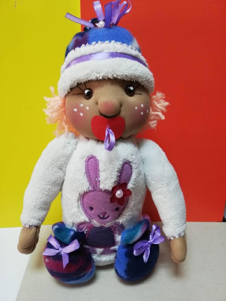 Интерьерная кукла Карапузик из капрона ручная работа