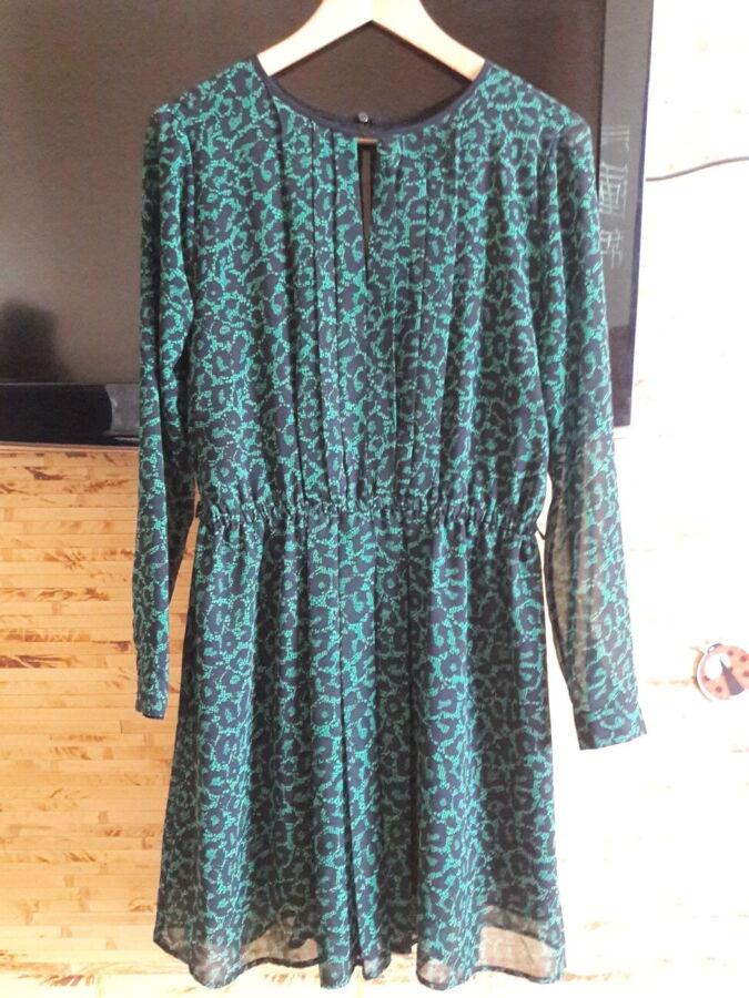 Платье с длинным рукавом с рисунком змеи Oodji