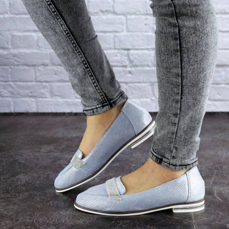 Туфли женские кожаные голубые,бежевые,белые