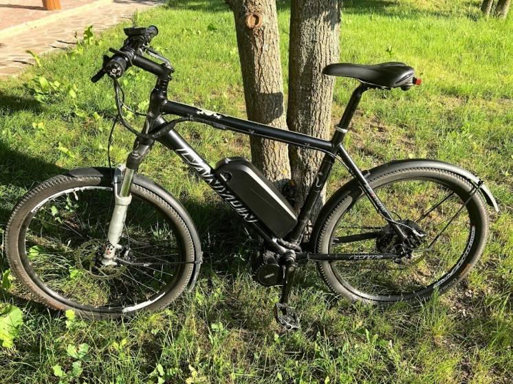 Електровелосипед з двигуном міддрайв 1000Ват, SLX, Rock Shox