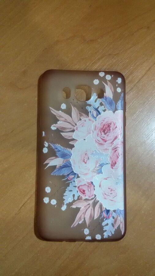 Силиконовый чехол (Flowers Print)