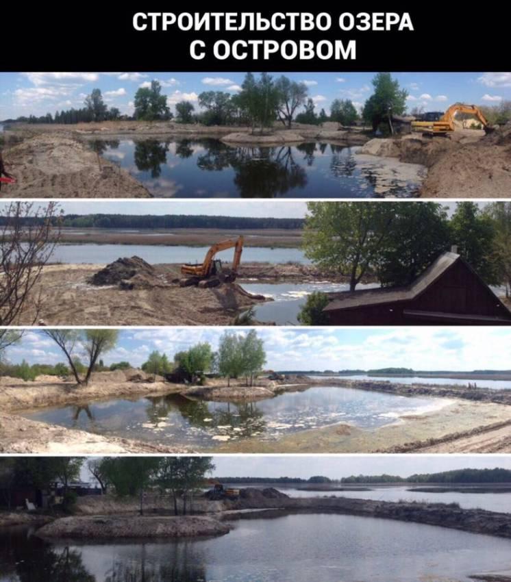 Очистка водоемов, озер, копка, дноуглубление, берегоукрепление