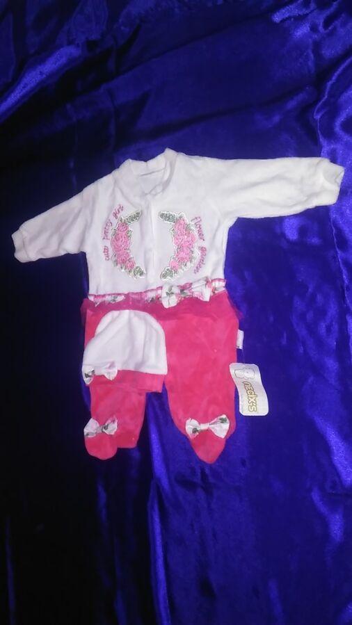 Нарядный человечек для новорожденной девочки 0-3 м