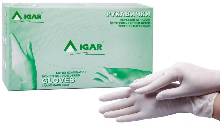 Одноразовая перчатка латекс