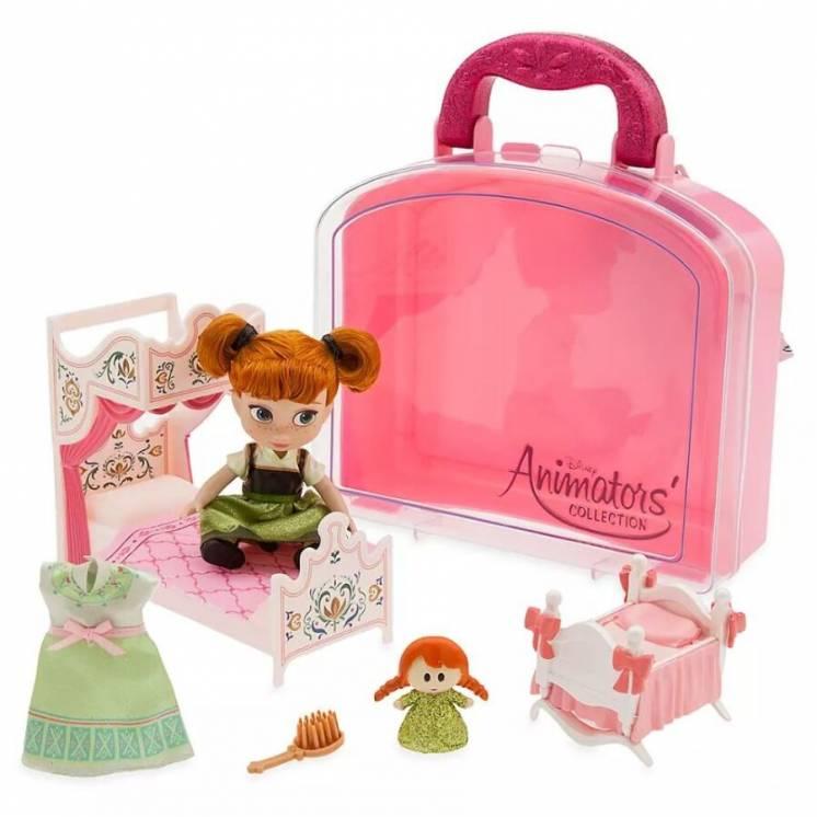 Мини кукла Анна в чемоданчике Disney