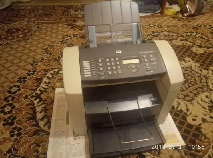 Принтер МФУ лазерный HP LaserJet 3015 + 2 картриджа + шнуры + драйвера