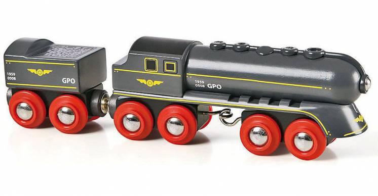 Деревянная железная дорога Brio Брио 33697 Паровоз с угольным тендером