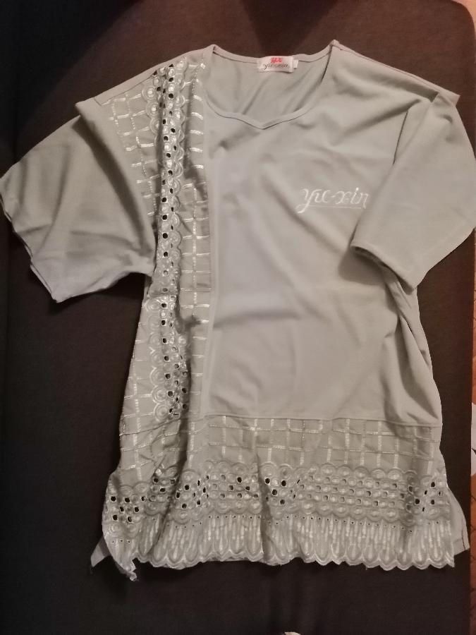 Кофта блуза с вышивкой большой размер
