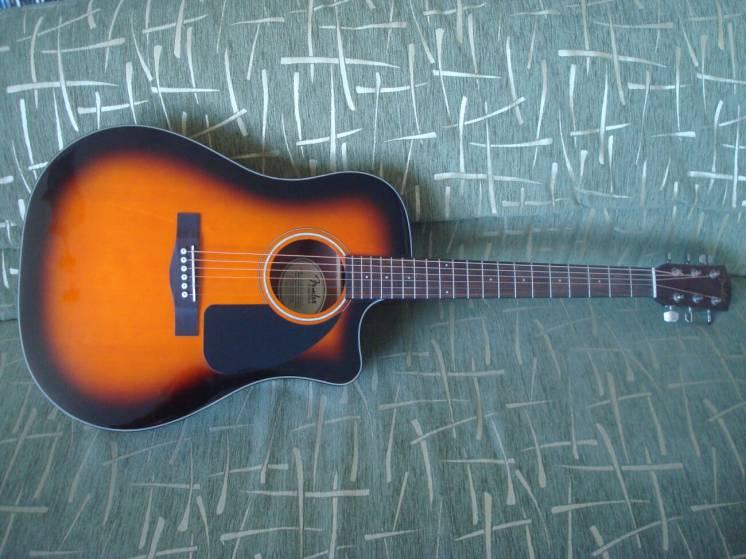 Продам электро акустическую гитару Fender