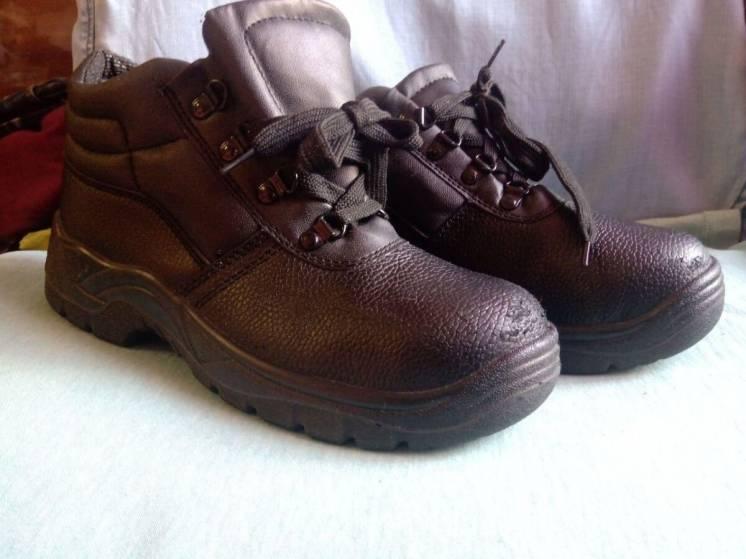 Ботинки рабочие Chukka boot, черные, с металлическим носком Размер 38