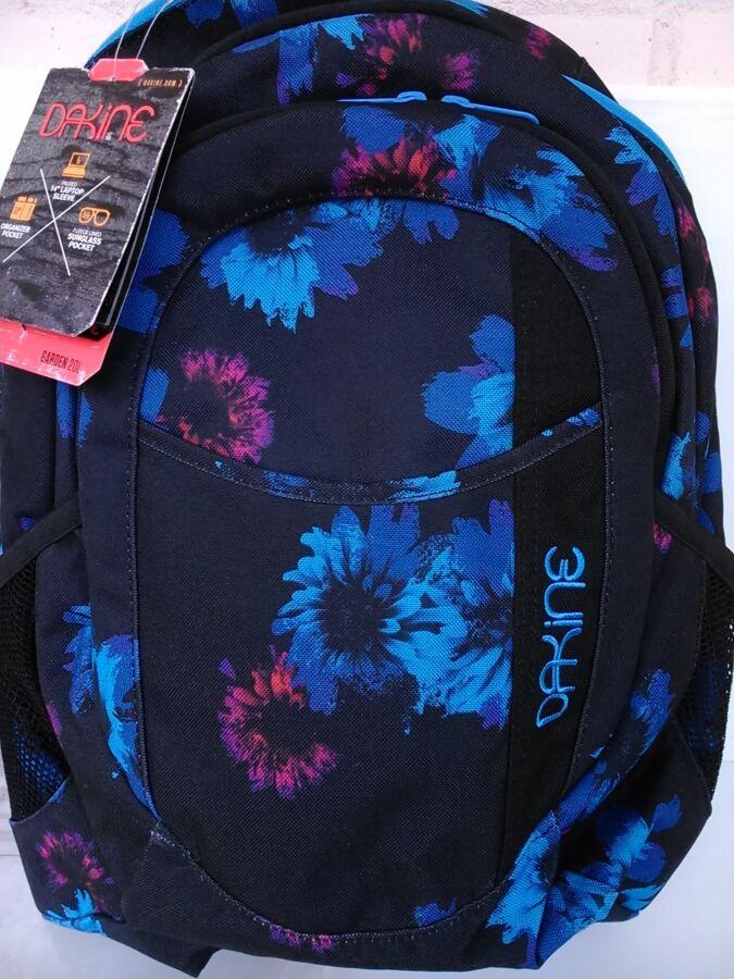 Новый рюкзак Dakine Garden Blue Flowers 20l Дакайн