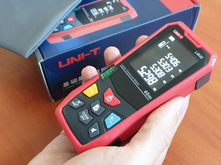 Лазерный дальномер UNI-T LM40, рулетка, оригинал