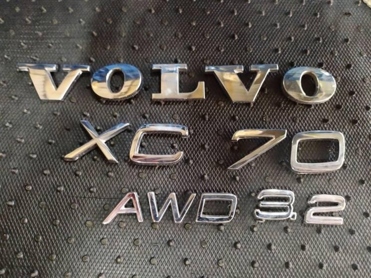 Буквы на крышку багажника Volvo XC70
