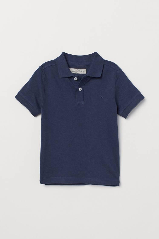 Темно-синяя футболка поло, тенниска, на мальчика H&M