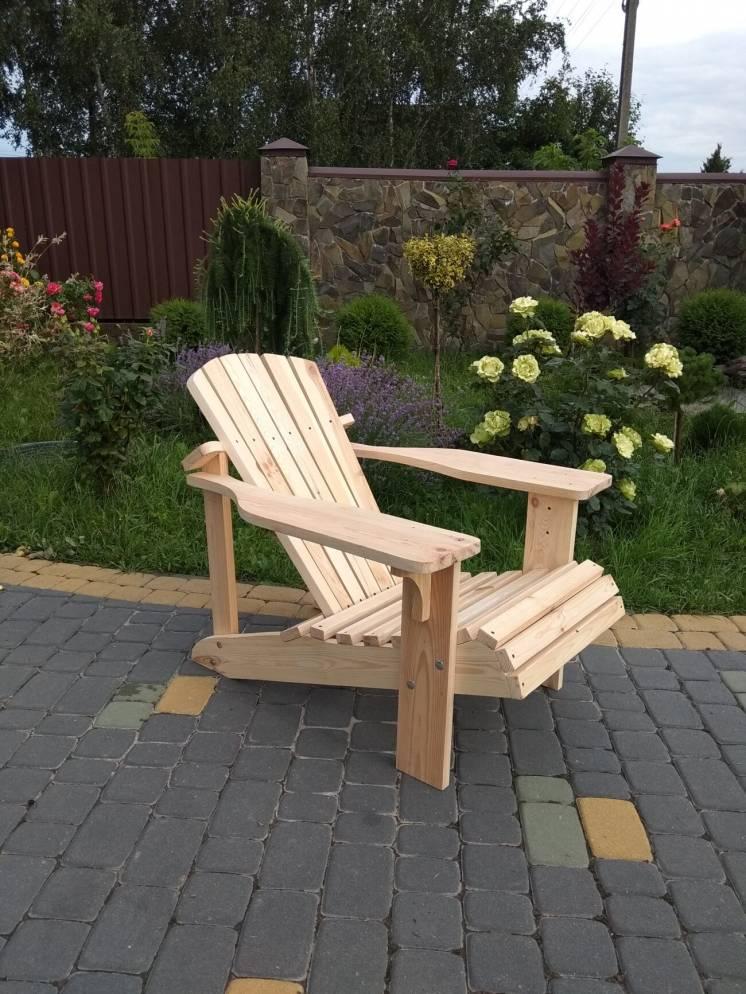кресло садовое из дерева, крісло садове, шезлонг, лежак, для відпочинк