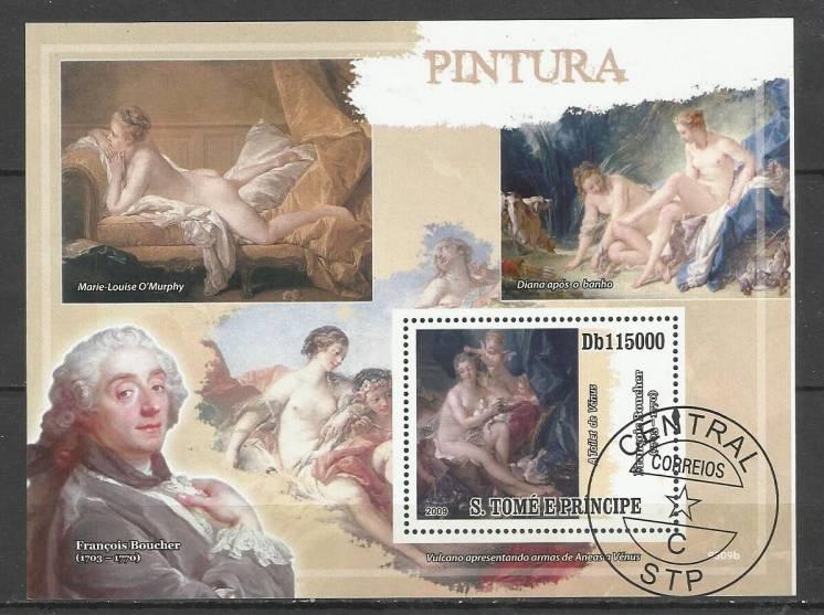 Продам марки Сан-Томе и Принсипи 2009 Буше (Блок)