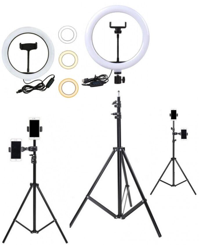 Кольцевой светодиодный LED-светильник 26см + Штатив-стойка 210см