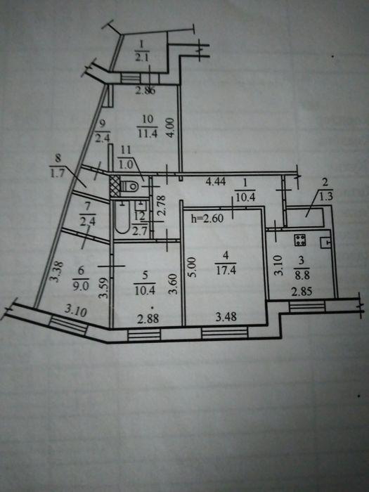 Срочно меняю 4-ком на Тополе 3 на 2- ком квартиру