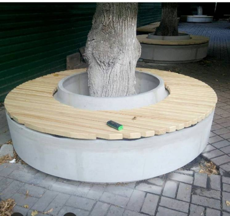 Скамья скамейка лавка бетон дерево Харьков