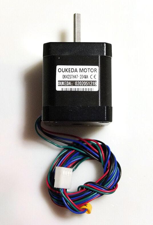 Шаговый двигатель для 3Д принтера, NEMA 17, 0,9º, 2,00А, 0,46Hm