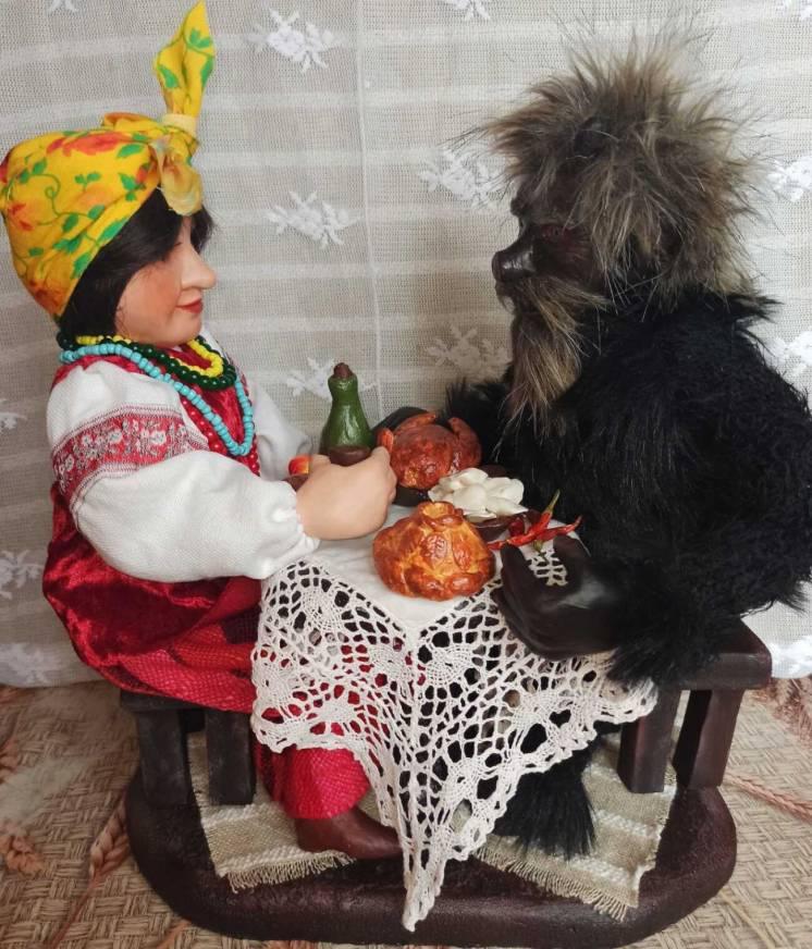 Куклы Солоха, Чорт, Оксана и Вакула из вечеров на хуторе ручной работы