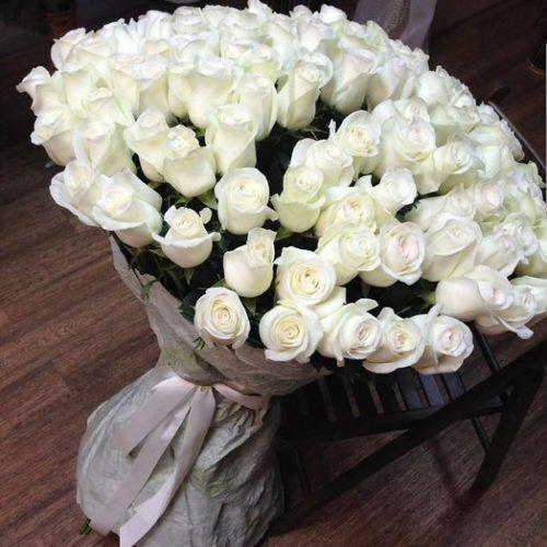 Букет из розы Белуга