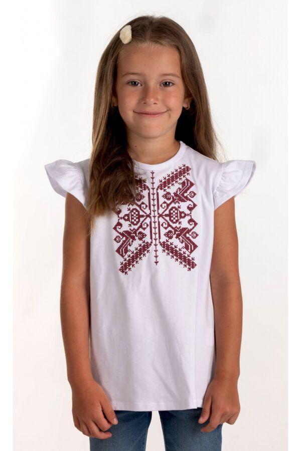 Вишита футболка для дівчинки (6016)